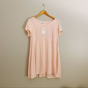 american apparel pink babydoll dress